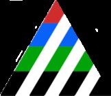 Pyramide mit Streifen